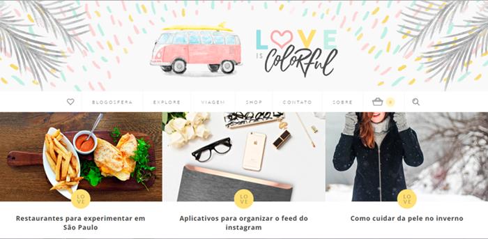 3 Blogs Que Você Deve Conhecer, Love is Colorful, Blog
