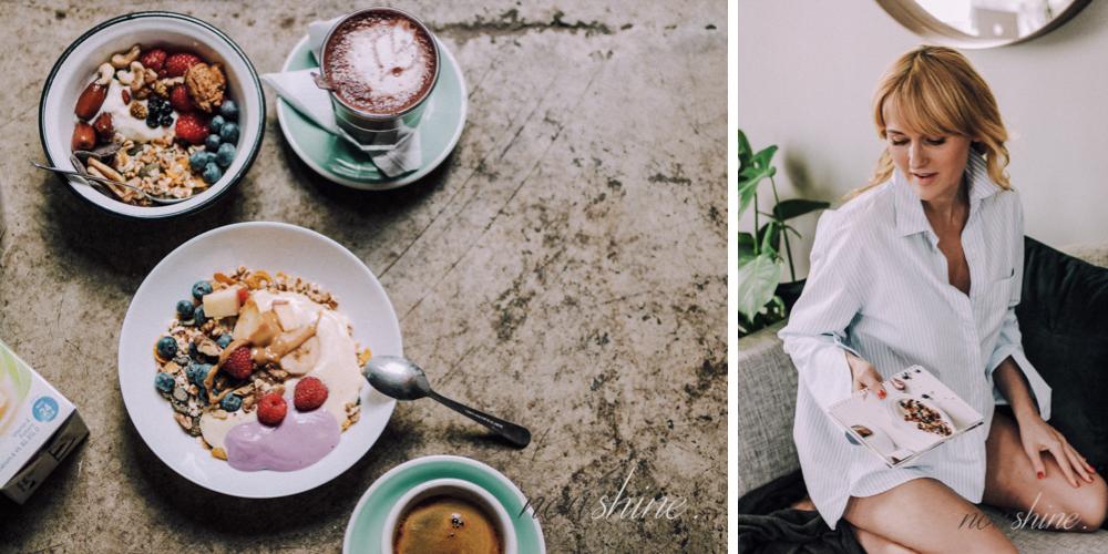 Rezept für Haferflocken mit Mandeldrink aus dem Alpro Breakfast Club Guide/ Nowshine ü40 Lifestyle Blog