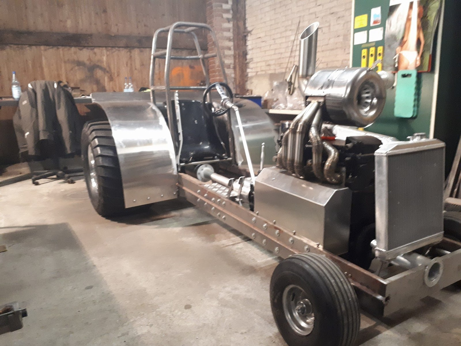 From Ostbevern in Germany, the Green Scare Pulling Team are currently building on a new 600kg Modified Garden Puller Tractor for the 2018 season.