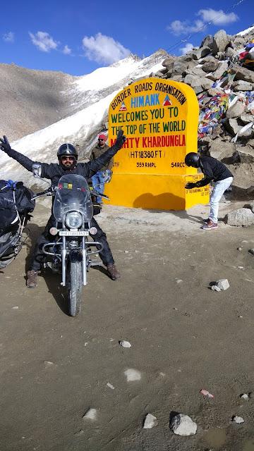 Leh Ladakh Bike Trip, Khardungla Pass