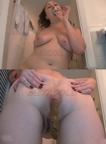 Masturbation pussy and monster turd. (Pooping beautiful girls compilation. Pooping FE 149-155)