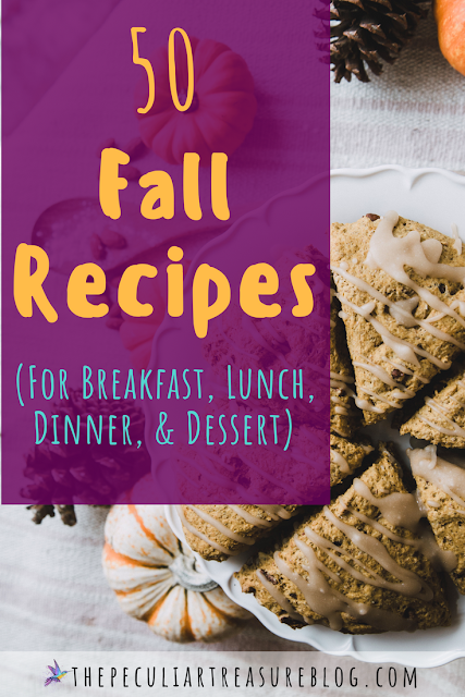 Fall Recipe Roundup: Fall Recipes for breakfast, lunch, dinner, dessert, and drinks. | #Fall #Autumn #recipe #pumpkin