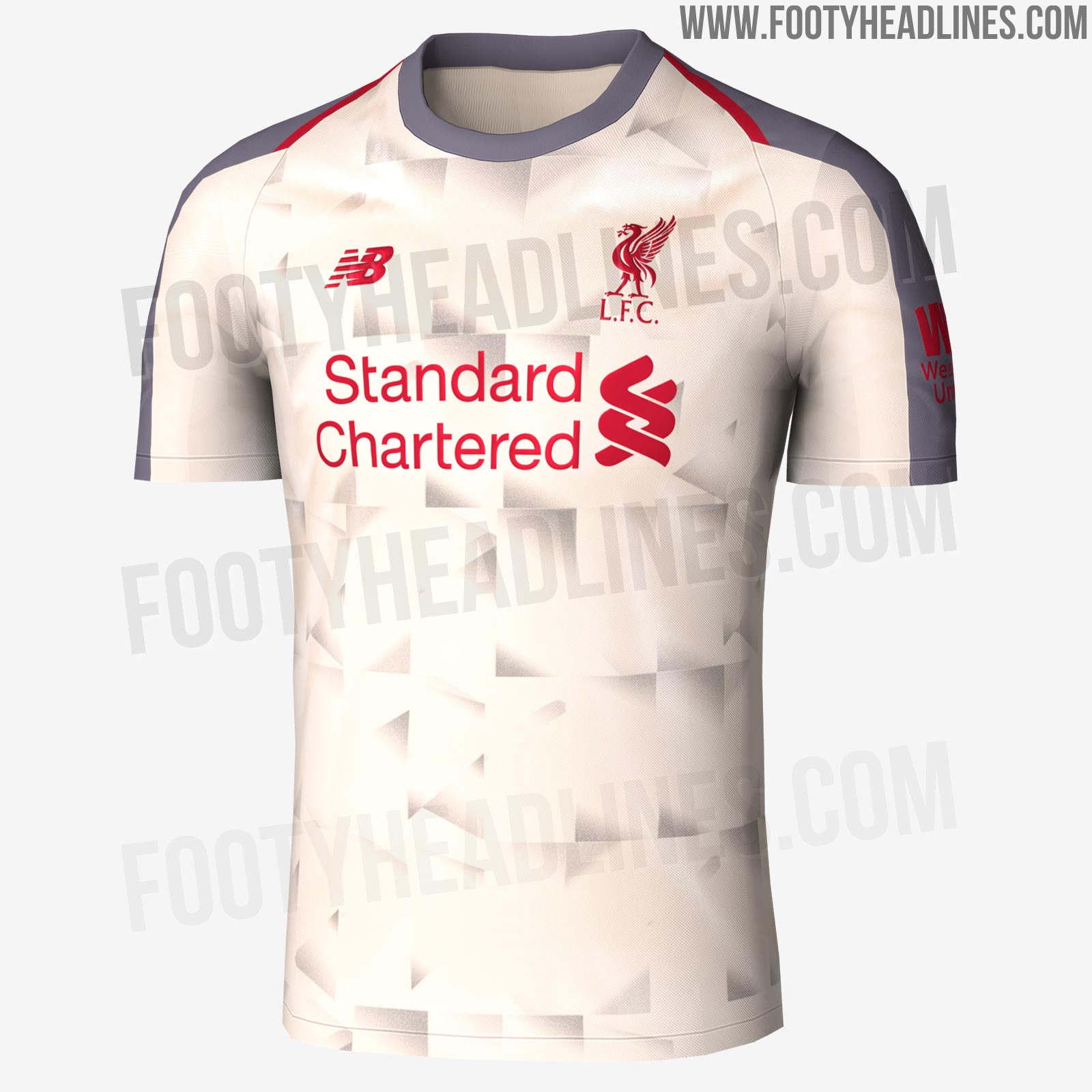 fc3249a36 A subtle graphic print appears on the front of the Liverpool 18-19 third kit .
