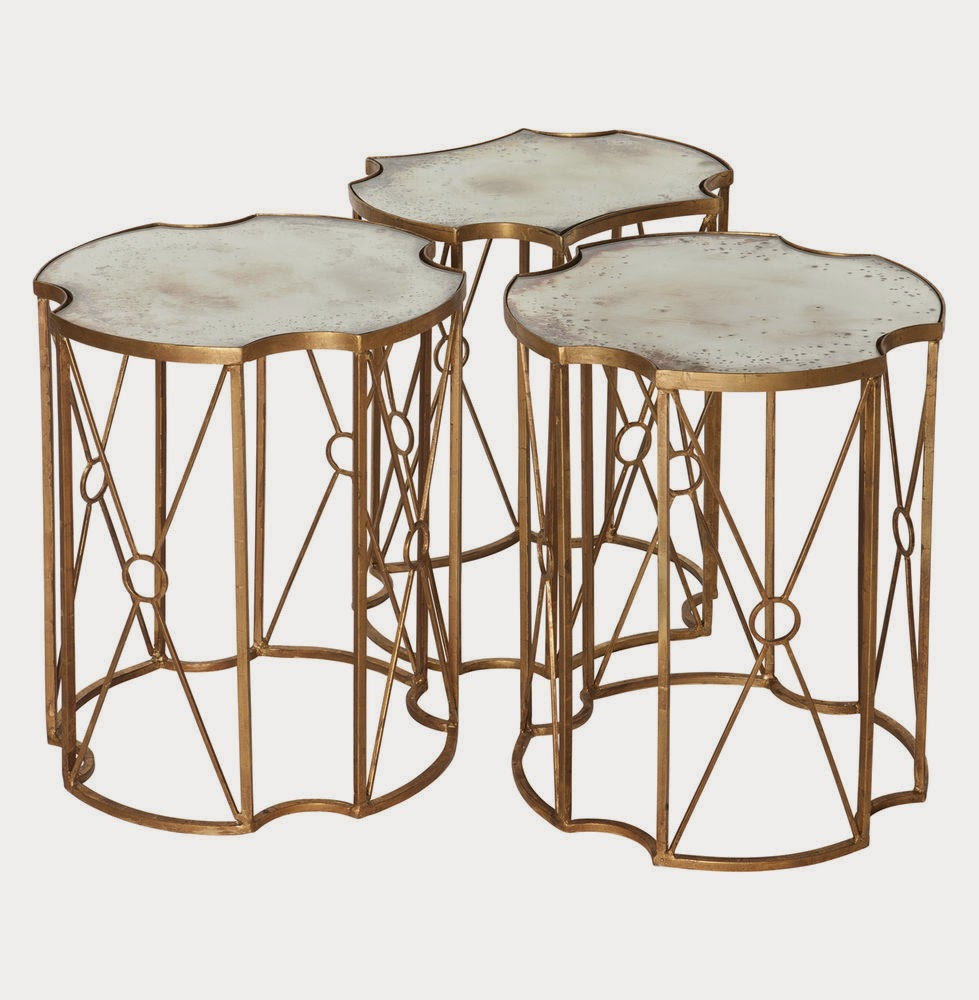 Abbey Jigsaw Bunching Table: Darya Girina Interior Design: Gold In Interior Design