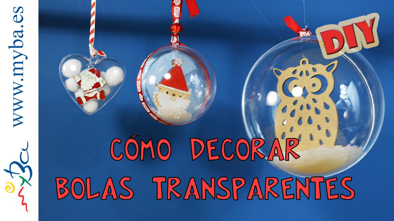 C mo decorar bolas transparentes diy decoraci n para - Bolas para decorar ...