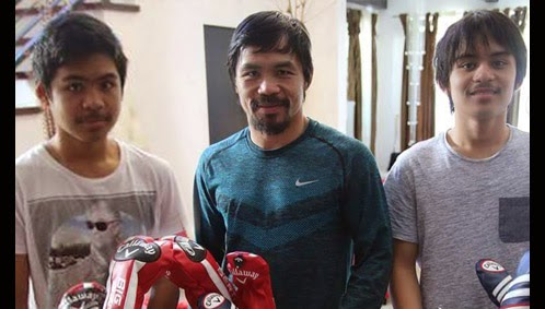 Family Life : Manny Will Be Spending Time On The Golf Course With His Sons