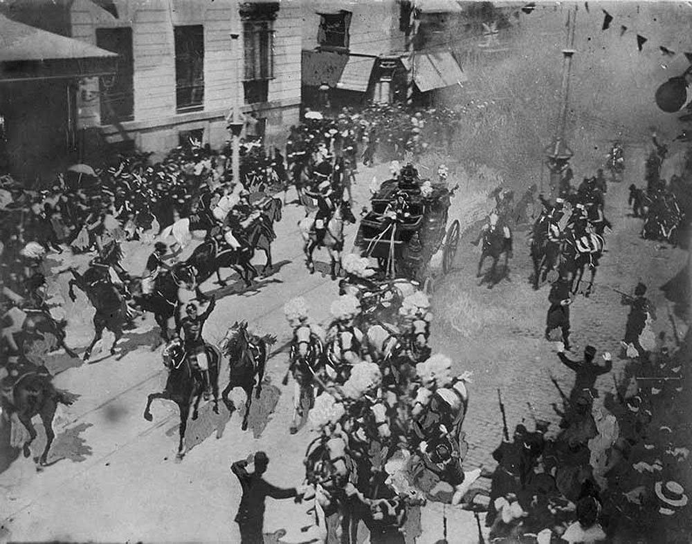 Matteo Morral assassination attempt on the King of Spain Alfonso XIII in 1906
