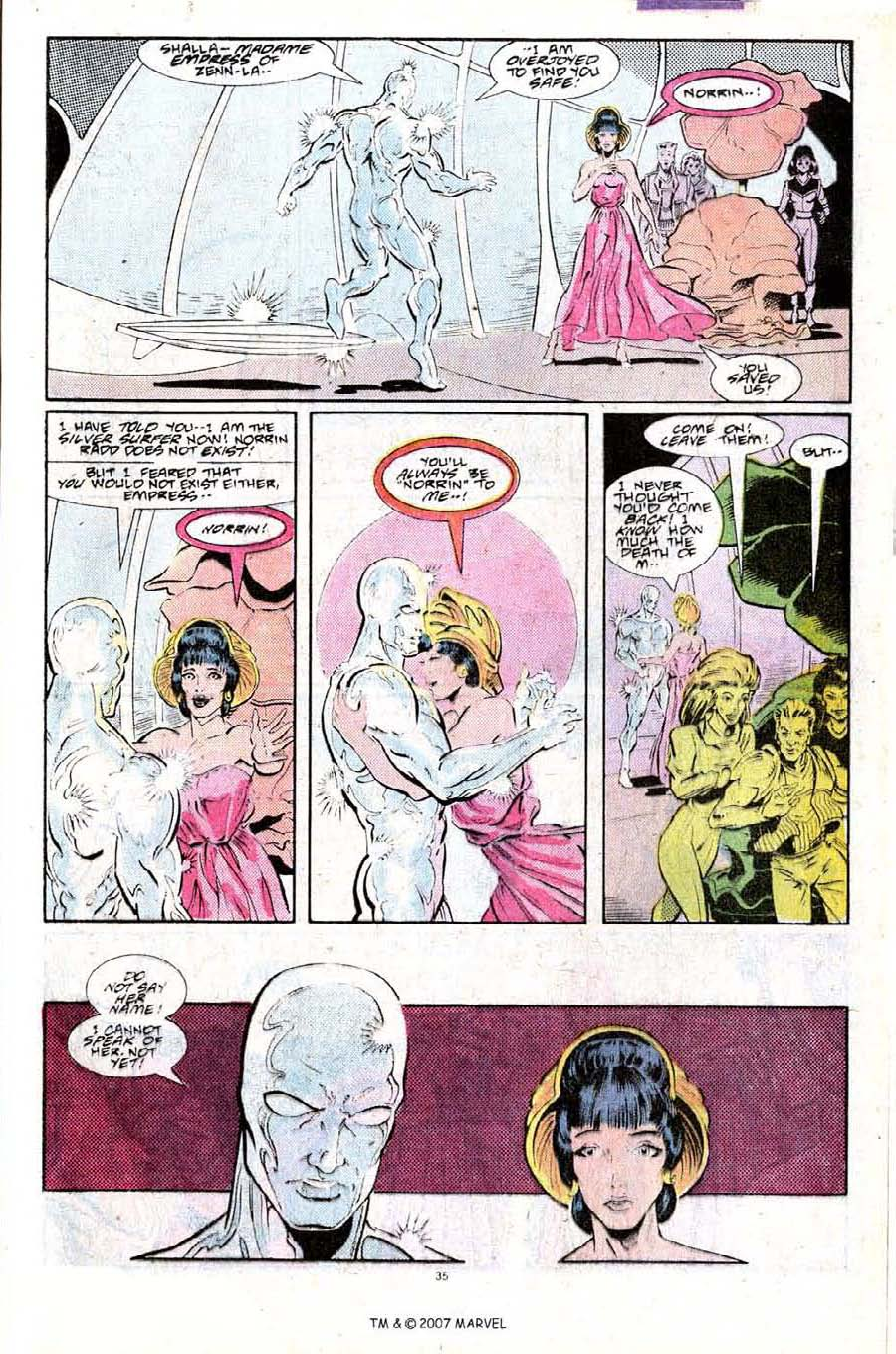 Read online Silver Surfer (1987) comic -  Issue #25 - 37
