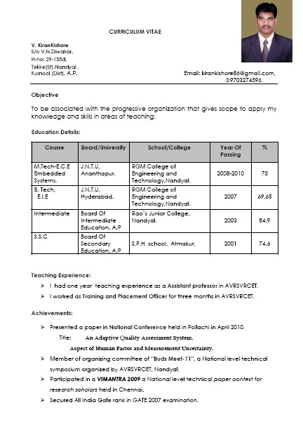 Resume For Hindi Teachers Sample Marchigianadoc Tk