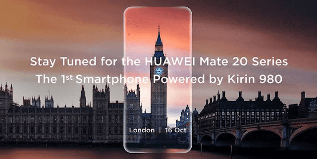 Huawei Will Unveil the Flagship Smartphone Mate 20 on October 16