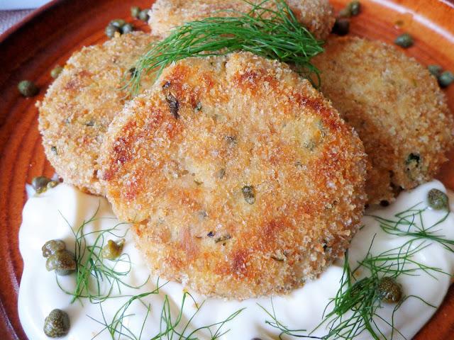 Z cyklu: Dla dzieci - Pieczone kotleciki z tuńczyka (Cotolette di tonno al forno)