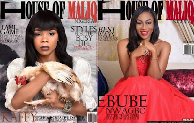 Top Nigerian Dancer Kaffy and Nollywood Actress Ebube Nwagbo Cover House of Maliq's October Edition