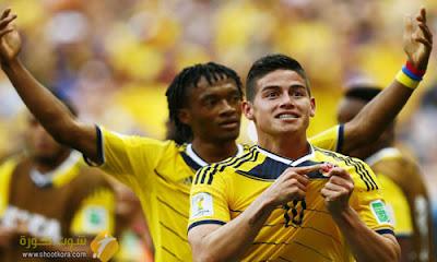 منتخب كولومبيا فى ذهاب الجولة السابعه امام منتخب فنزويلا بتصفيات كأس العالم 2018