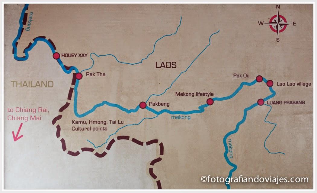 recorrido rio Mekong en Laos hasta Luang Prabang