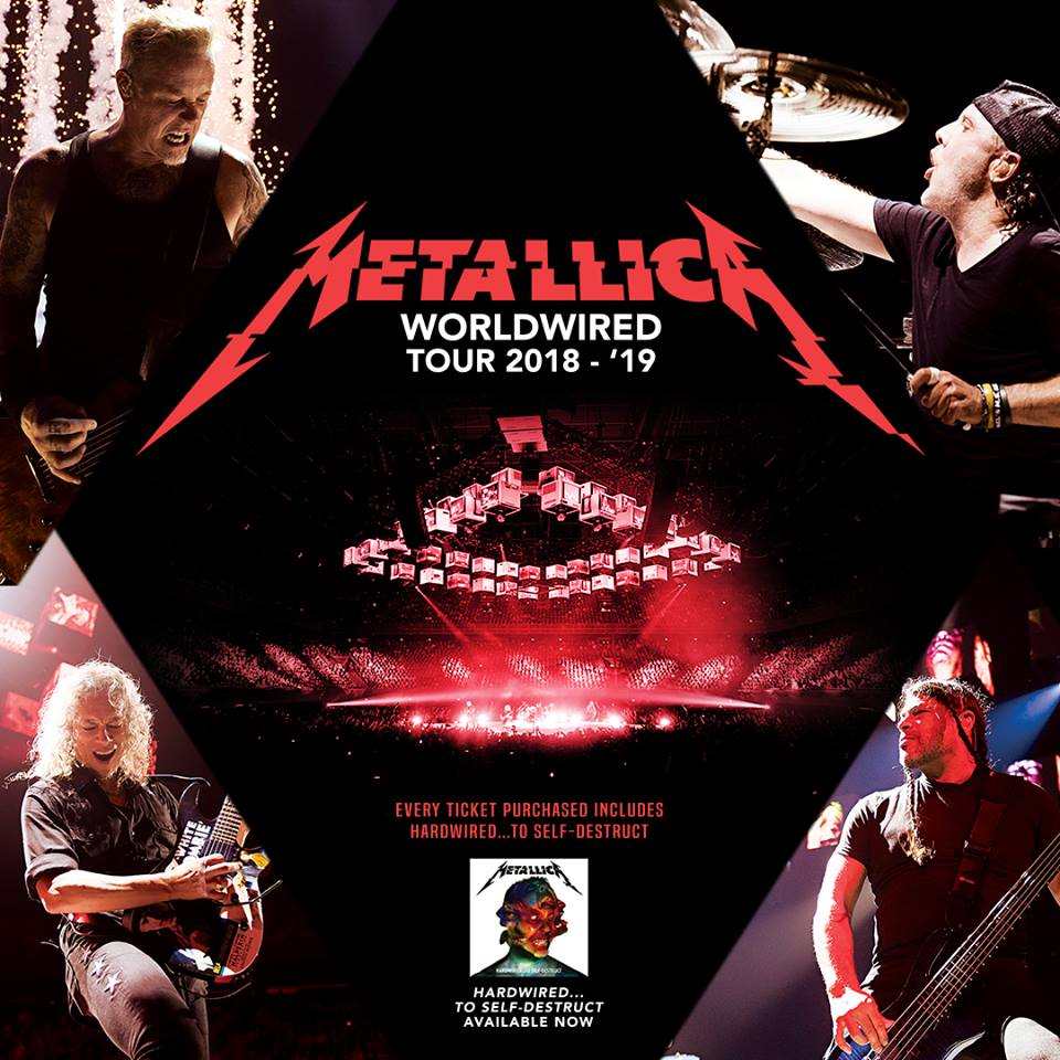Metallica anuncia gira por Europa con su WorldWired Tour 2019