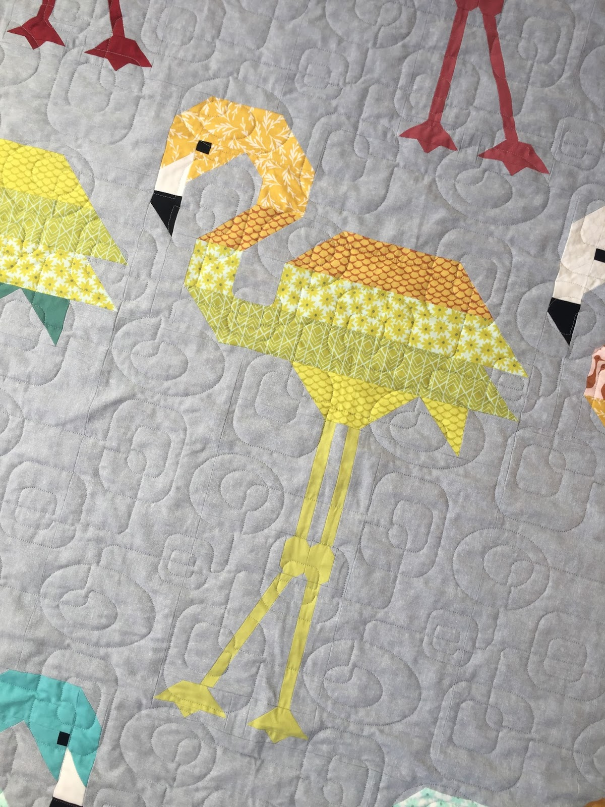 A Blue Sky Kind Of Life Florence Flamingo Quilt A Finish