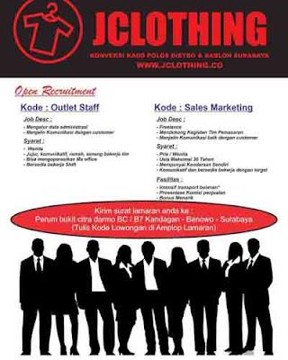 lowongan kerja JClothing