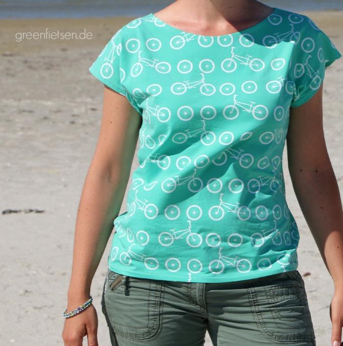 greenfietsen: Kimono Tee von Maria Denmark, mein liebstes Sommershirt