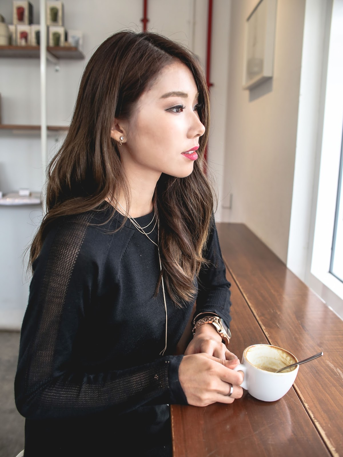 knit-black-dress-sheer-sleeve-panel