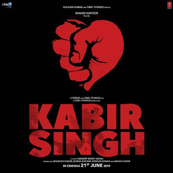 Kabir Singh new upcoming movie first look, Poster of Shahid Kapoor next movie download first look Poster, release date
