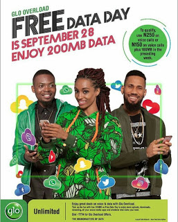 Glo Announced September 28, 2017 As 200MB Free Data Day