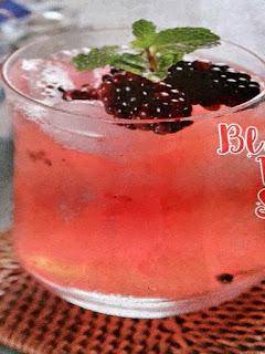 Gambar Resep Minuman Segar Blackberry Vanilla Squash