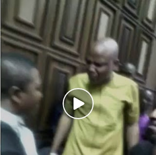 A 'Mad Man' Like Buhari Cannot Jail Me - Biafra's Nnamdi Kanu Roars In Court; Watch Video here