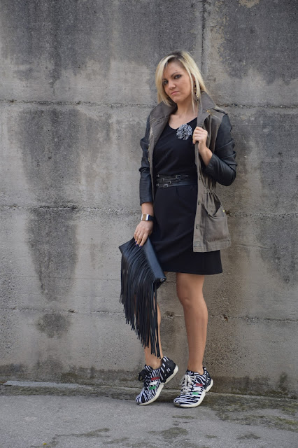 sneakers and dress how to wear sneakers and dress october outfit  mariafelicia magno fashion blogger web influencer italiane