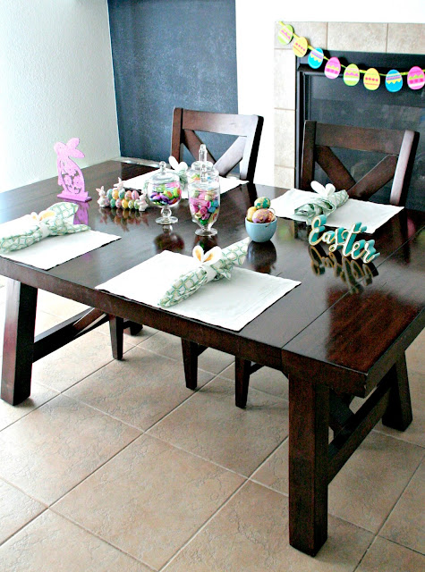 Oriental Trading Easter table decor, Budget friendly Easter table ideas, Easter Table setting ideas, Elegant Easter Table settings,