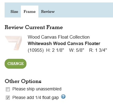 Picture Framing Blog - A Good Frame of Mind: Using a Canvas Float Frame