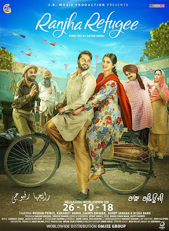 Poster Of Pollywood Movie Ranjha Refugee 2018 300MB PdvdRip 480P Full Punjabi Movie