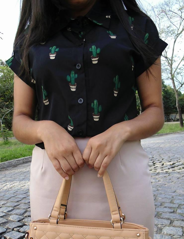 Blusa de estampa de cactos