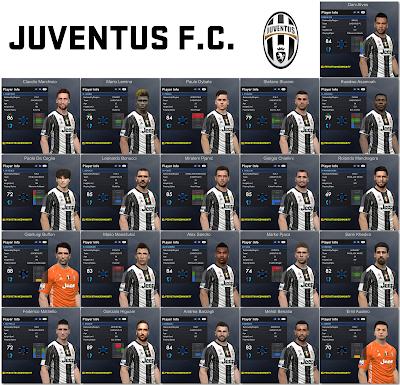 PES 2017 Juventus Facepack 1.0 by Tran Ngoc