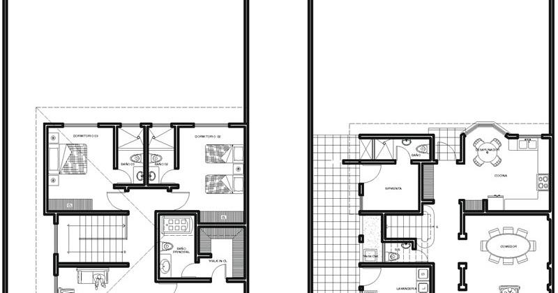 Plantas de casas plano de casa moderna de un piso for Plano habitacion online