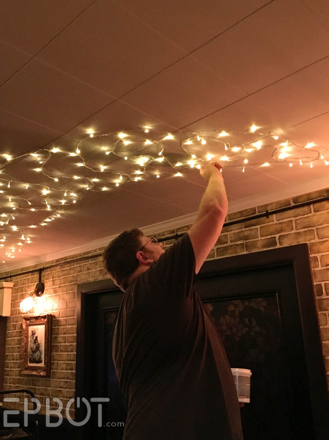Epbot Our Magical Twinkle Light Ceiling And How We Did It