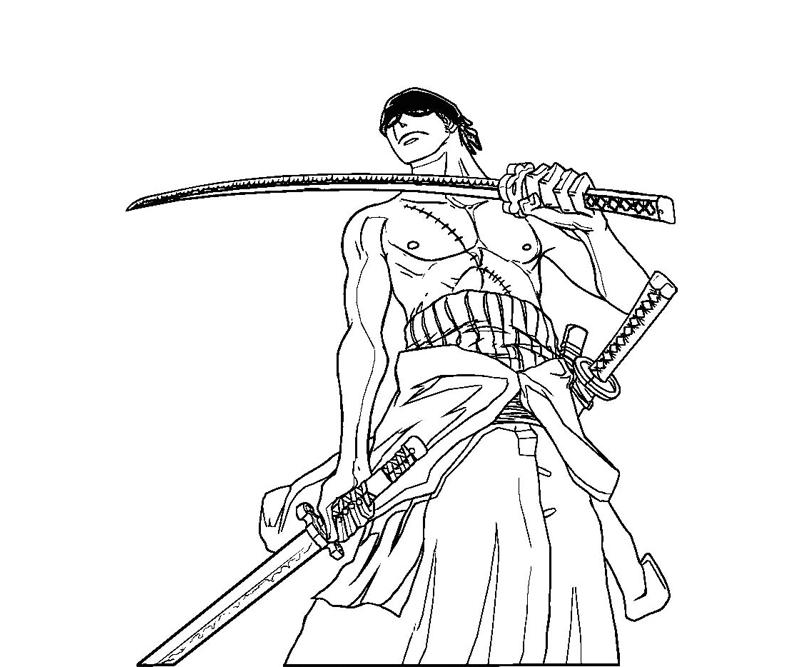 Roronoa zoro 13 coloring crafty teenager for Zoro coloring pages