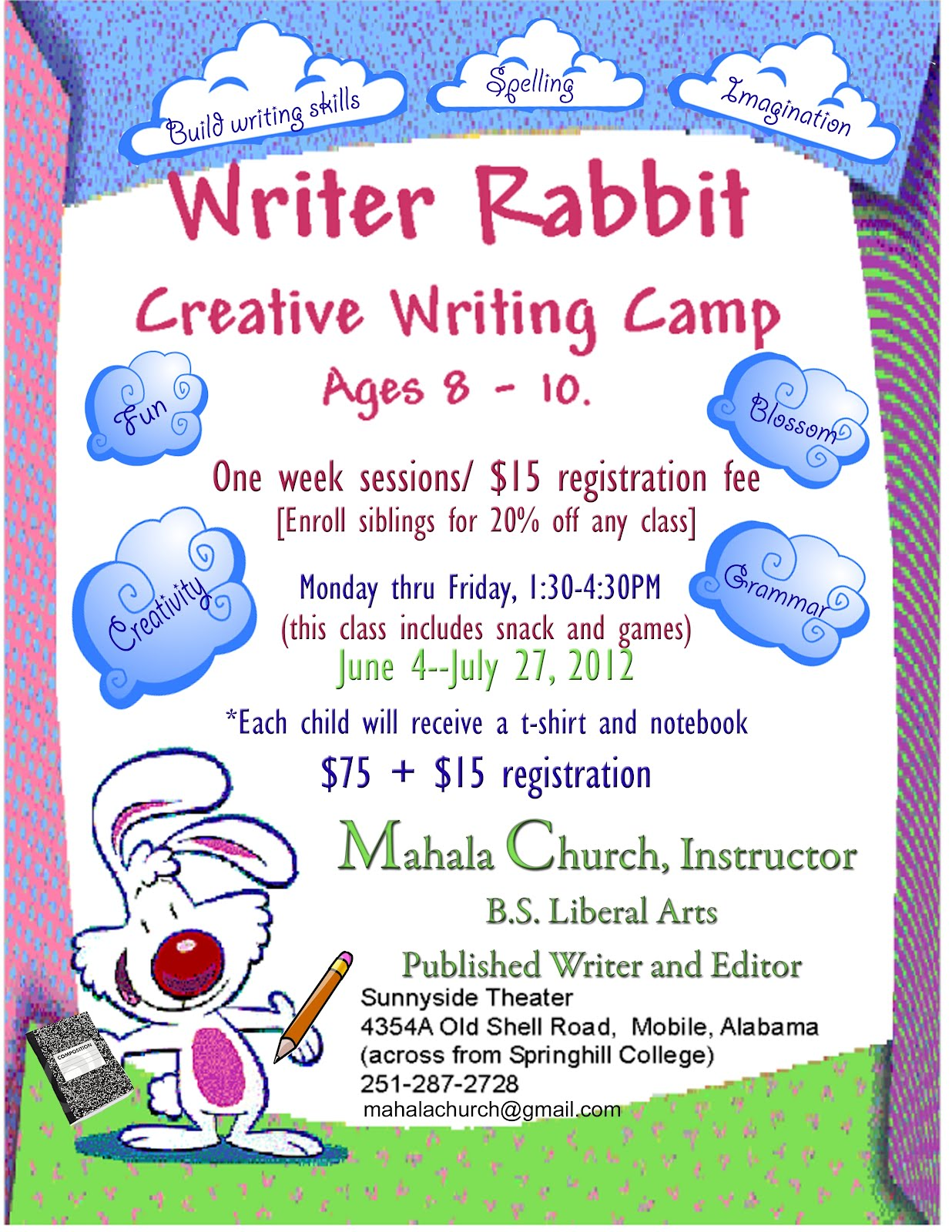 Lyrical Pens Creative Writing Camps For Kids