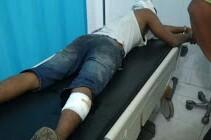 Tersangka narkoba di Kisaran yang ditembak polisi saat di rumah sakit.