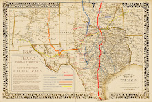 The Great Texas Cattle Trails Map
