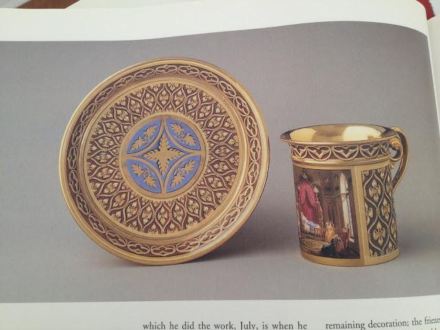 Cup and Saucer called Tasse 'Gothique' et soucoupe, Manufacture de Sèvres (painted by Jean-Claude Rumeau), 1816, Sèvres, Hard-paste porcelain, Collection of Lee B. Anderson.