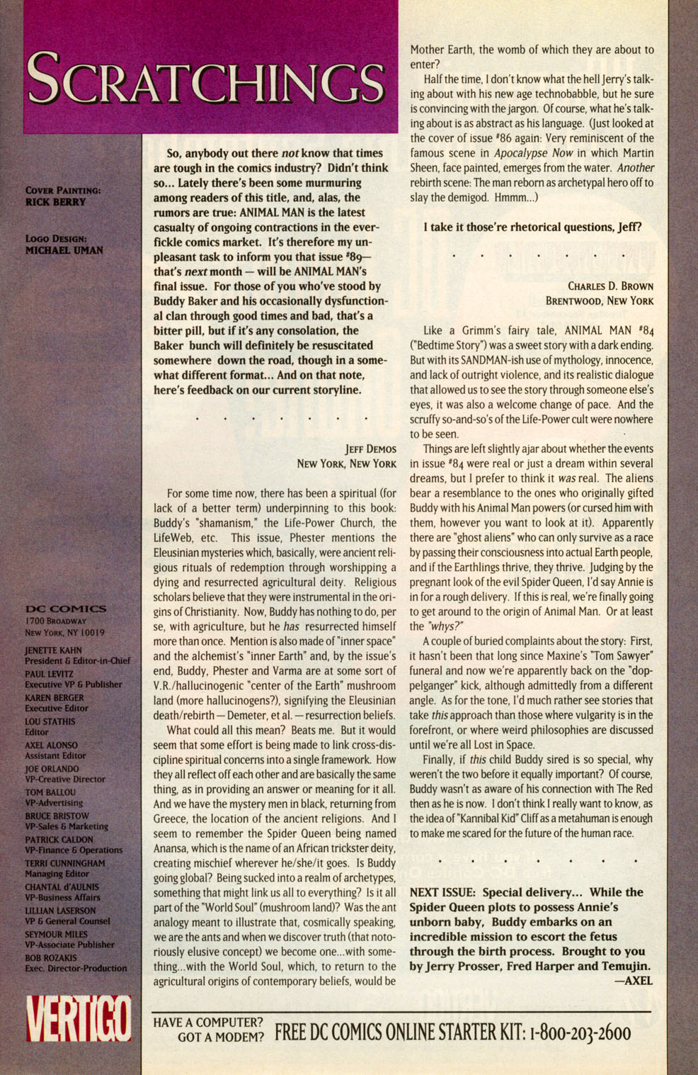Read online Animal Man (1988) comic -  Issue #88 - 23