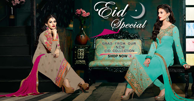 New Latest Eid Festival Special 2016-2017 Designer Salwar Kameez Suits and Dresses Online Shopping With Discount Offer Sale and Deal with free shipping and COD in India