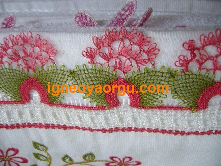 dantel havlu kenarı örnekleri ve yapılışları