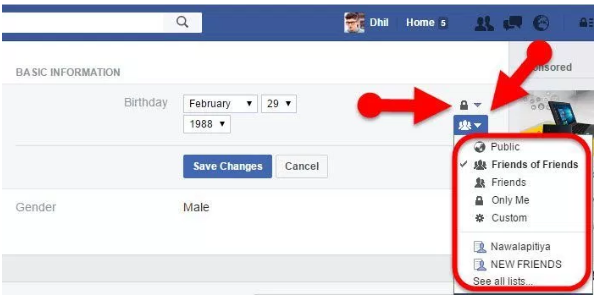 How to edit my date of birth in facebook
