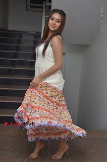 Telugu Actress Anu Emmanuel New Stills in Beautiful White Long Dress  0085.JPG