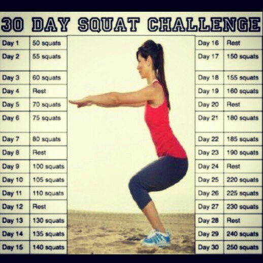 30 Day Squat Challenge Results