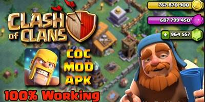 Download Clash of Clans Mod Apk v10.332.10 (Gems/Gold/Elixir) Terbaru