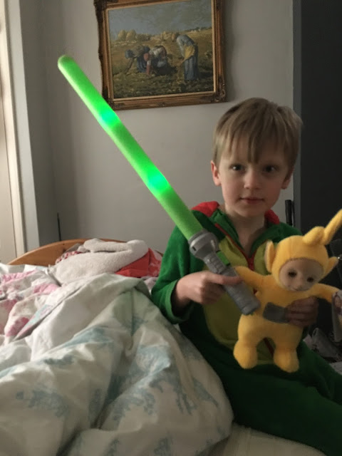 Teletubbies and Zuru Light Swords from Asda
