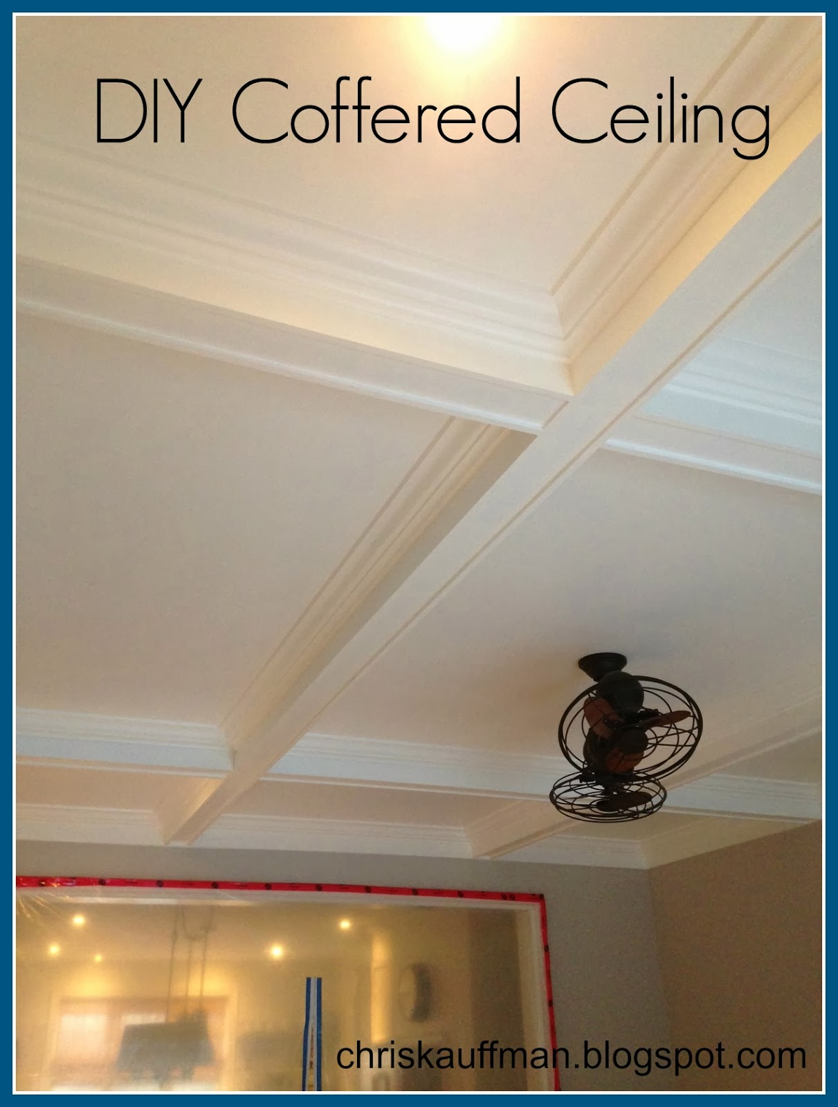 How to build a coffered ceiling - I Thought I Should Give A Little Run Down In One Place As To How I Completed My Coffered Ceiling Project Just In Case You Want To Try This Project