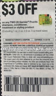 save $3/2 Garnier Fructis